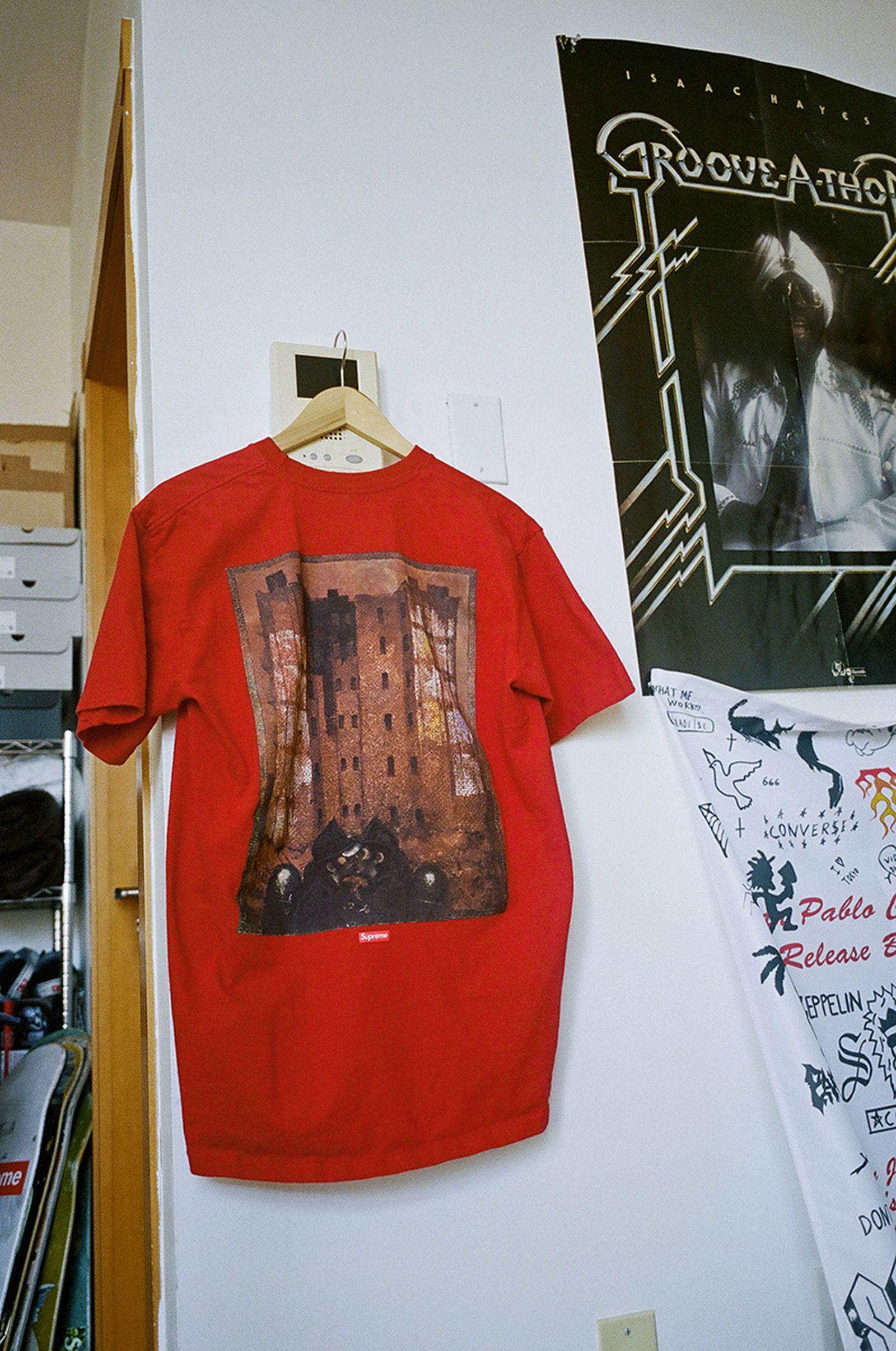 Supreme Martin Wong Red T-Shirt
