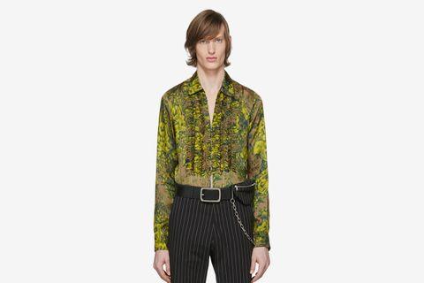 Green & Yellow Cardinale Floral Shirt