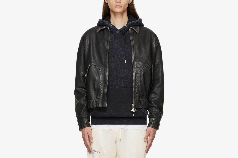 Goat Leather Bomber Jacket