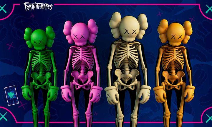 kaws fortnite companion skin skeleton fortnightmares collaboration release date buy video