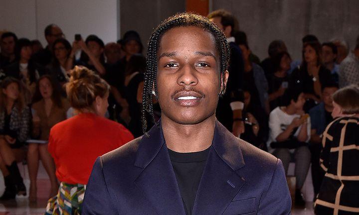 A$AP Rocky Prada front row SS20 Womenswear blazer