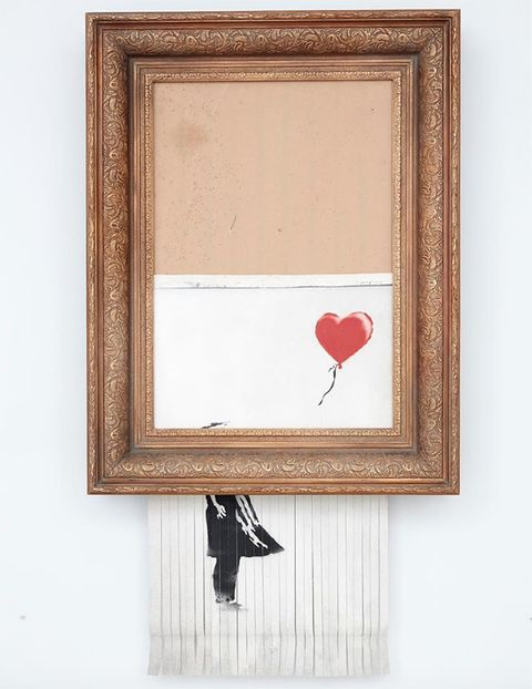 banksy girl with balloon value double bansky