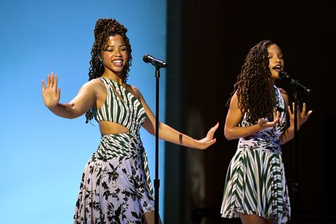 Chloe x Halle perform during the 10th Annual DVF Awards