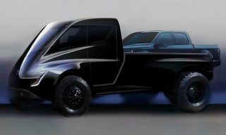 Elon Musk Couldn't Be Anymore Excited for Tesla's New Blade Runner-esque Pickup Truck