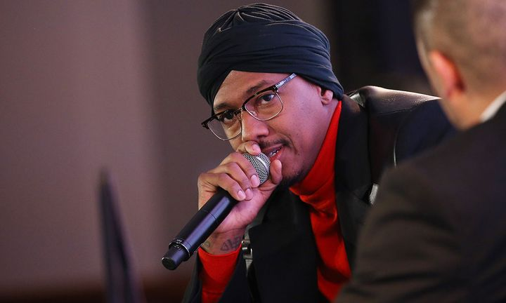nick cannon speaks onstage during the Hollywood Chamber of Commerce 2019