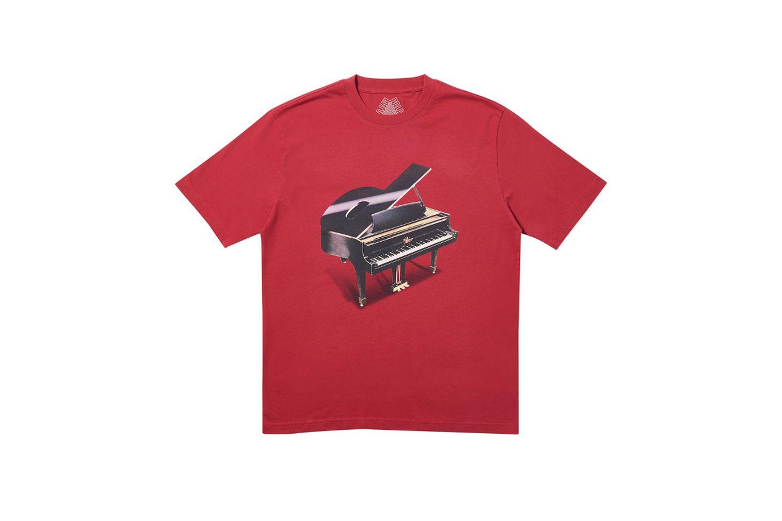 Palace 2019 Autumn T Shirt Grand dark red