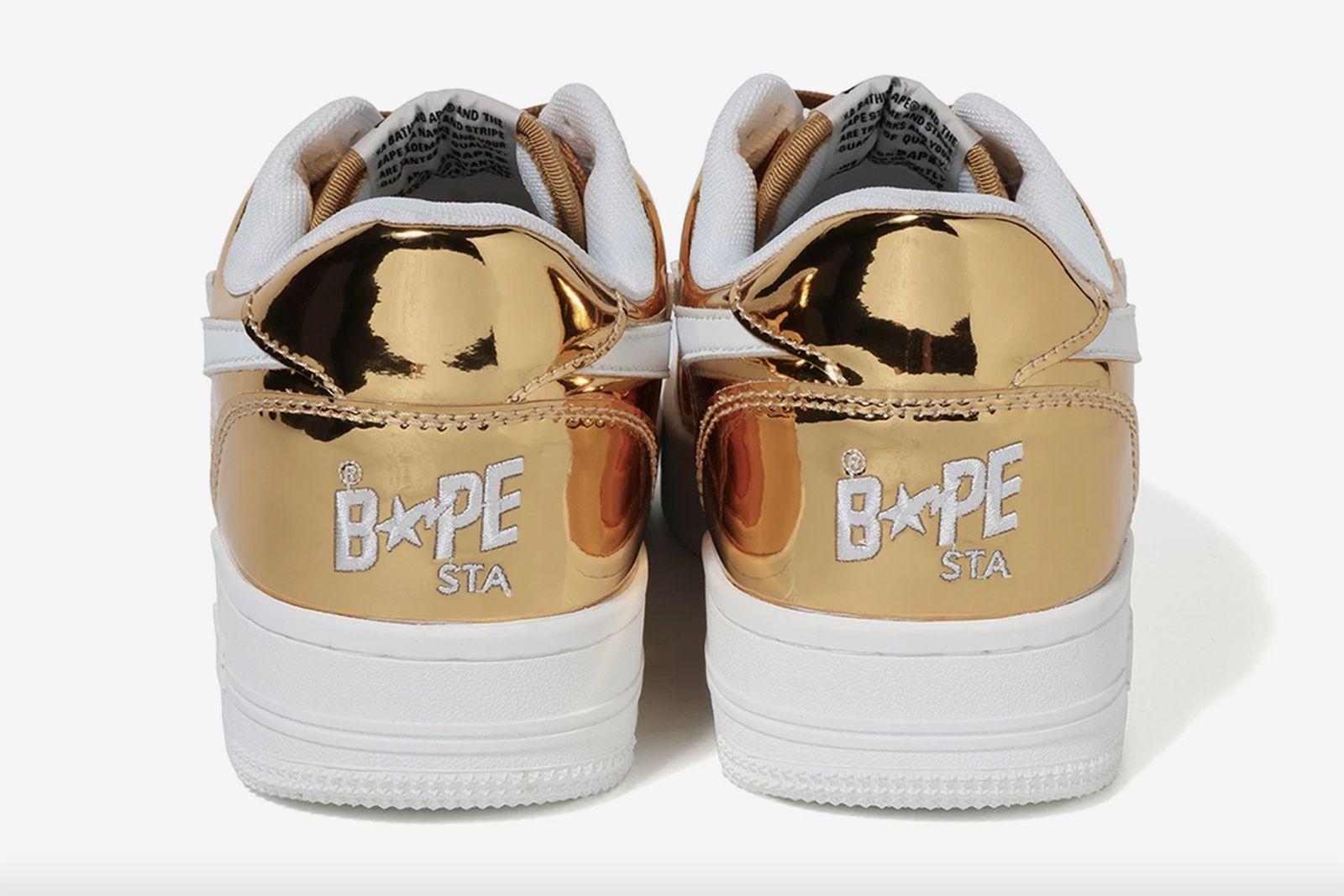 bape bapesta foil gold silver release date price A Bathing Ape