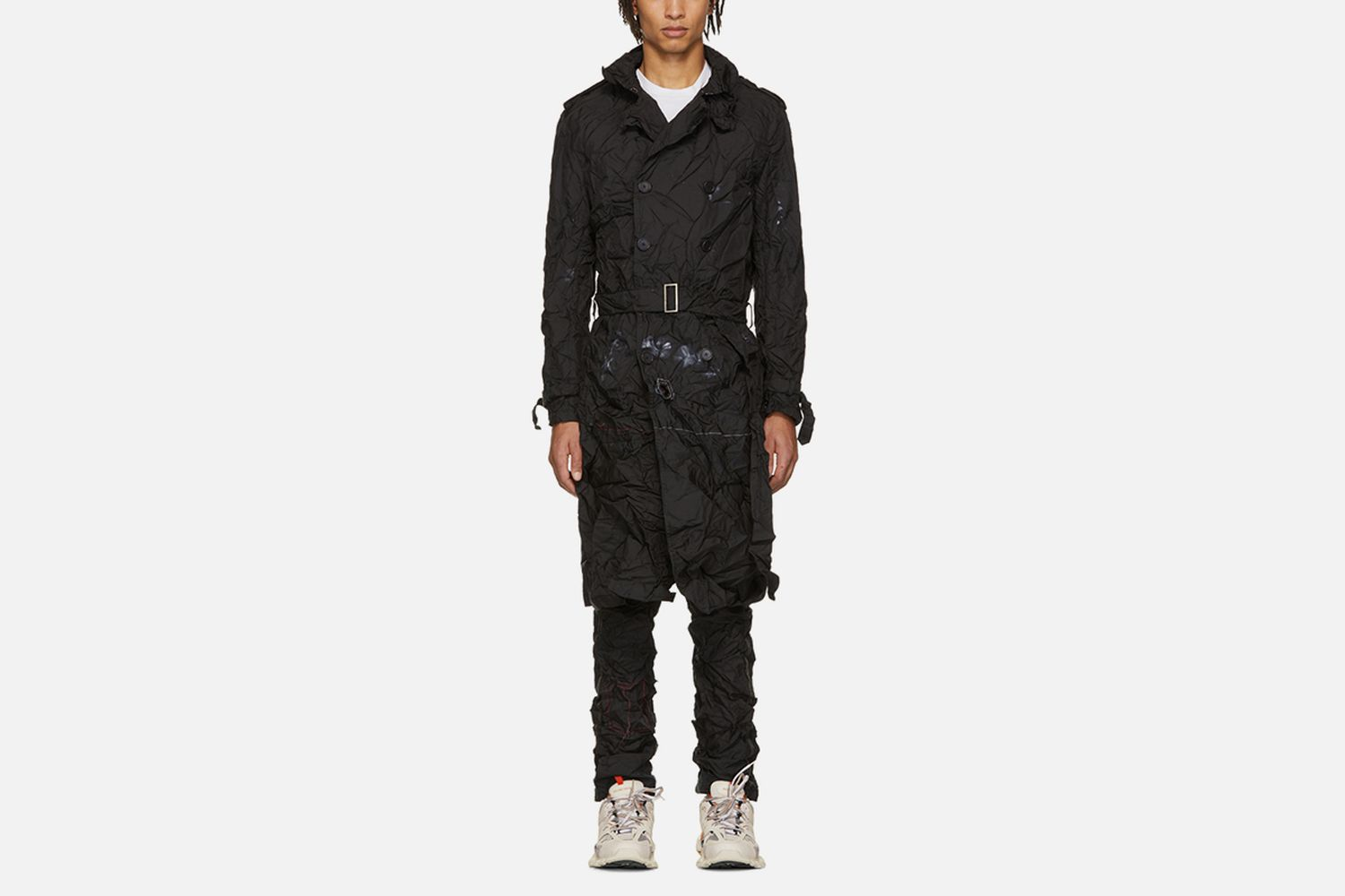 Cropped Readymade Airbag Trench Coat