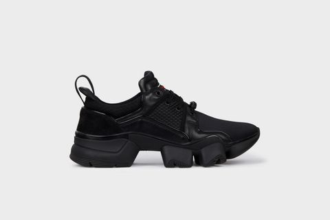 Men's Black JAW Low Sneakers in Neoprene and Leather