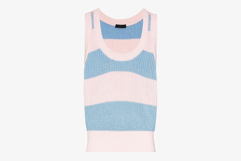 Striped Cotton Vest Top
