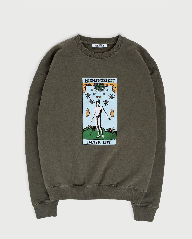 Highsnobiety — Inner Life Sweatshirt Light Military Green - Image 1