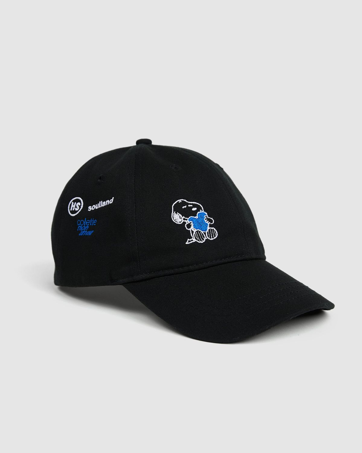 Colette Mon Amour x Soulland -  Snoopy Heart Black Baseball Cap - Image 1
