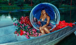 Rihanna Looks Fire Modeling New Savage x Fenty Lingerie Collection