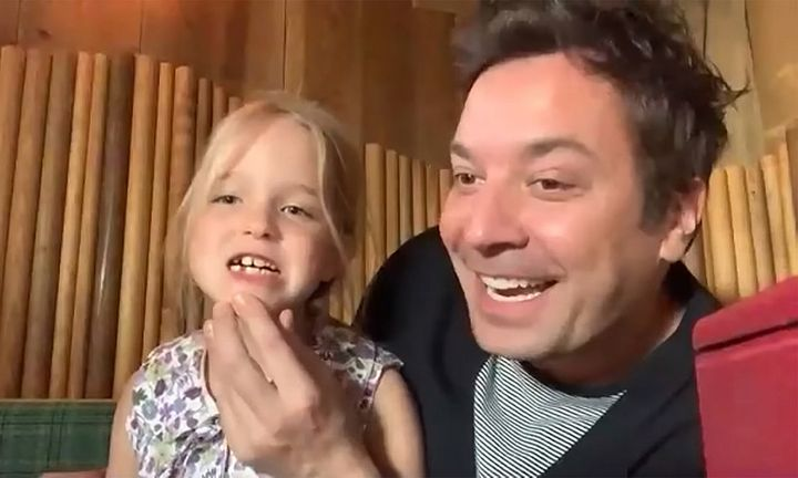 Jimmy Fallon and daughter