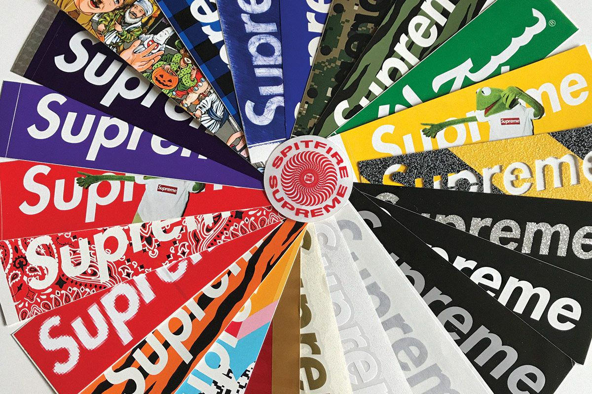 Supreme stickers meet the collector tracking down every piece