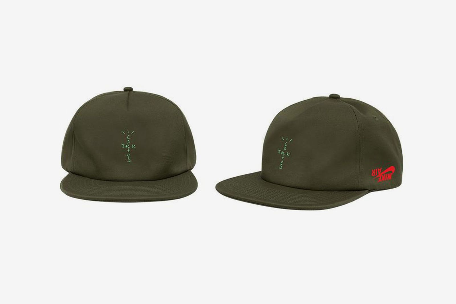 "Travis Scott Jordan Brand ""Highest in the Room"" green hat"