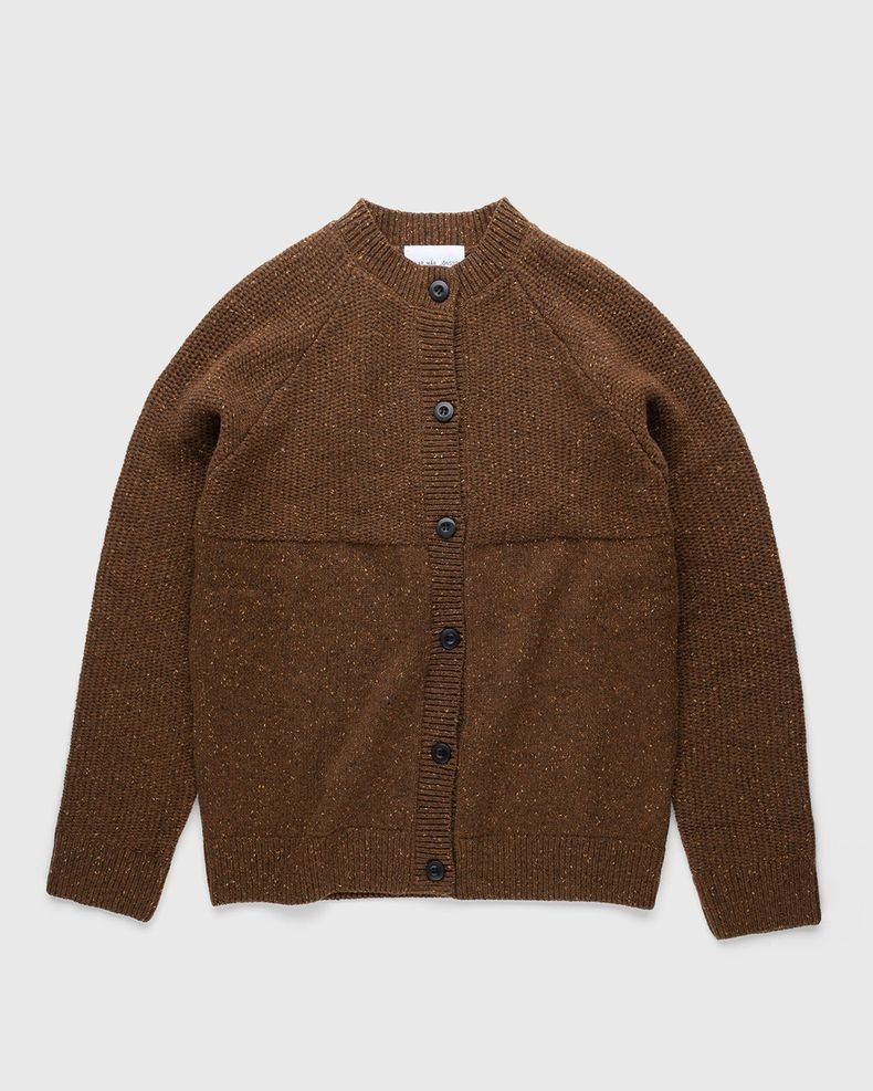 Arnar Mar Jonsson – Knitted Crewneck Cardigan Camel