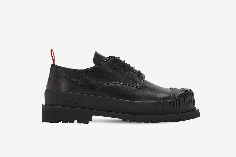 Double Sole Derby Shoes