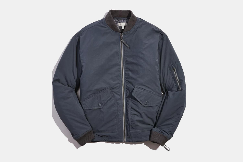 Open Hem Bomber Jacket