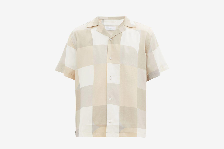 Canty Geoblock-Print Lyocell Shirt