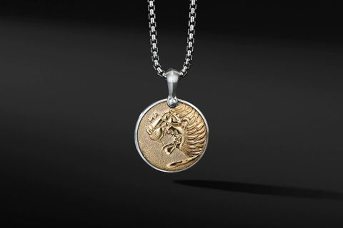 Petrivs® Lion Amulet with 18K Yellow Gold