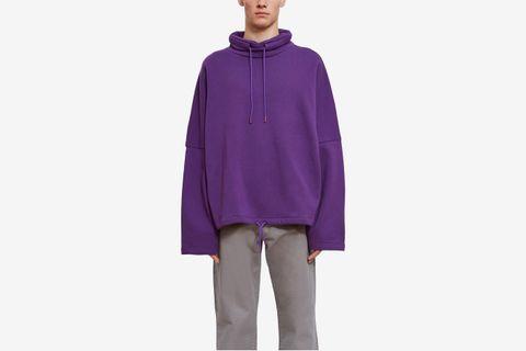 Batwing Drawcord Sweatshirt