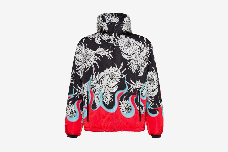Floral & Flames Padded Jacket