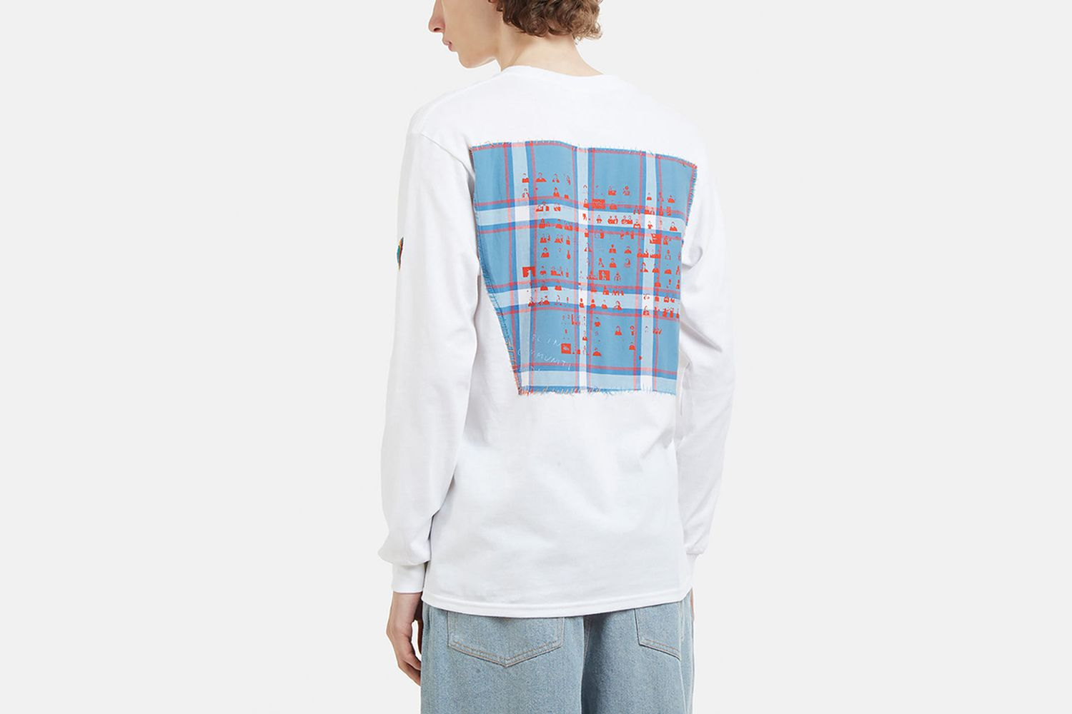 Check Patchwork Back Longsleeve