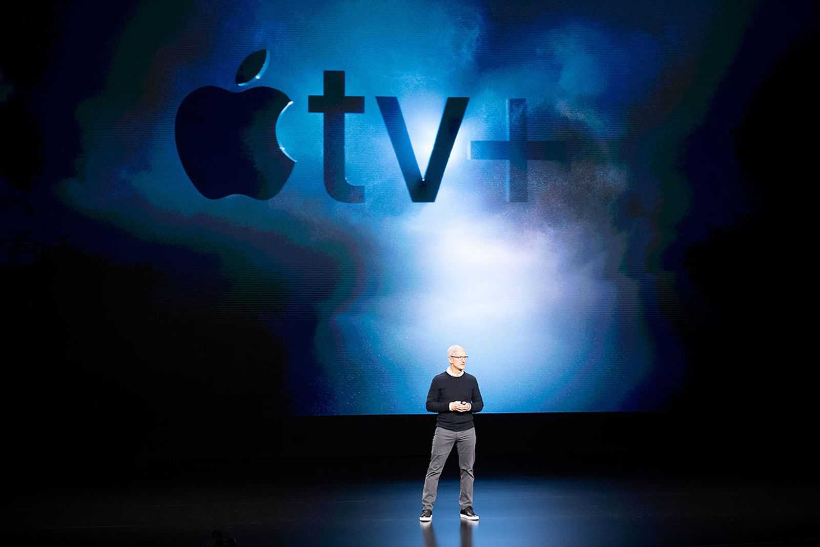 Tim Cook Apple TV+ background