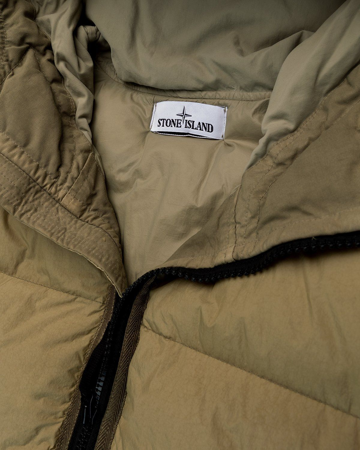 Stone Island – Real Down Jacket Natural Beige - Image 4