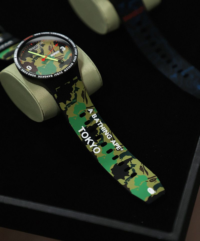 f07e69e462 Swatch & BAPE Launch New BIG BOLD Collaboration With Tokyo Events