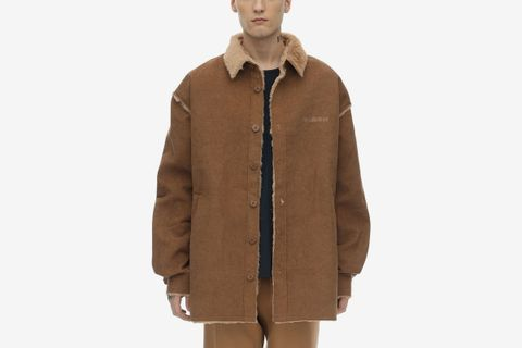 Faux Shearling Shirt Jacket