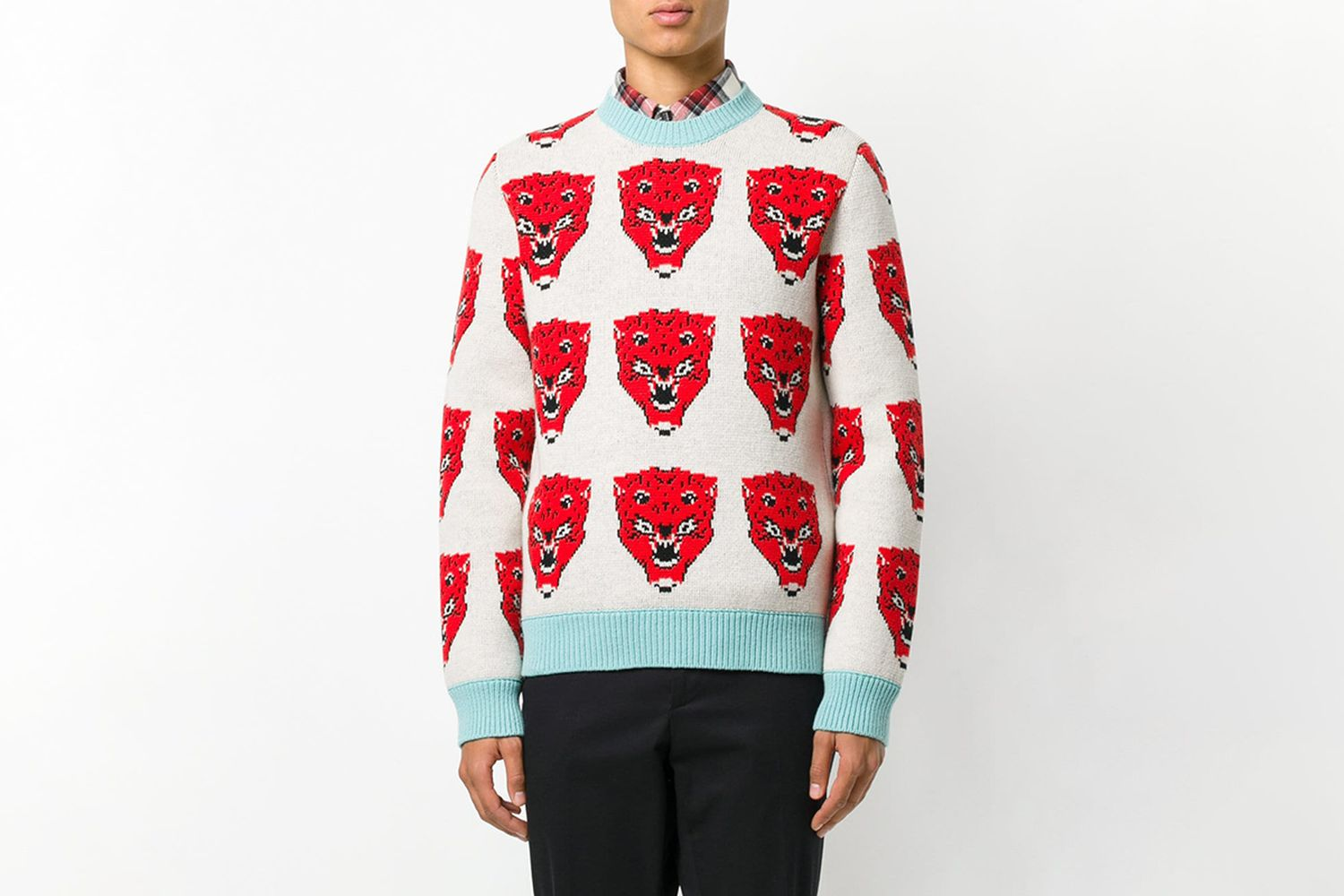 Tiger Jacquard Knitted Sweater