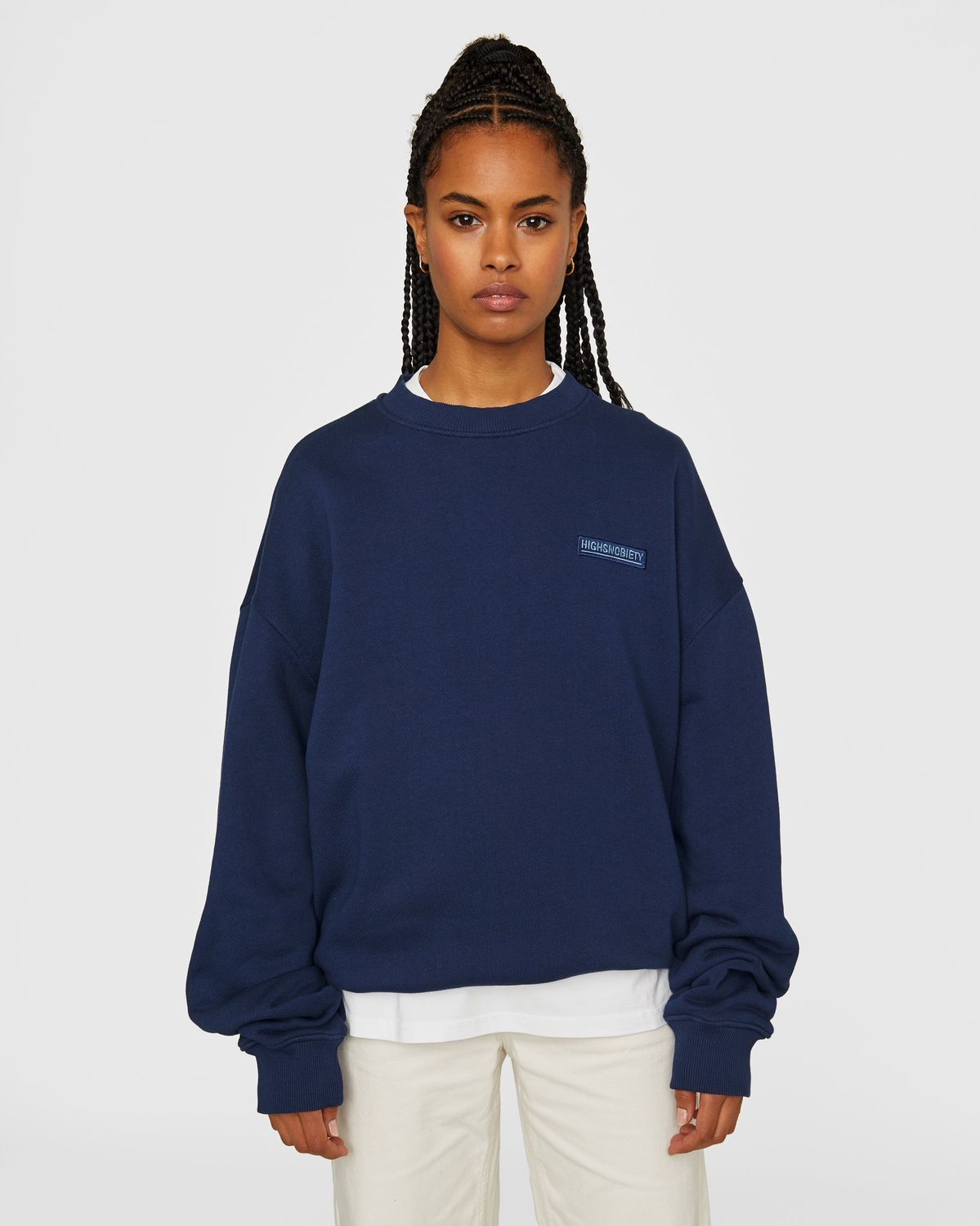 Highsnobiety Staples — Sweatshirt Navy - Image 6