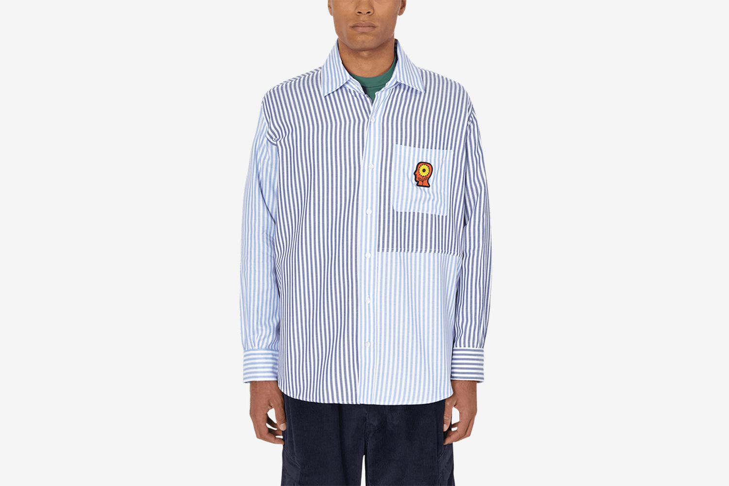 Tier One Sunflower Paneled Oxford Shirt