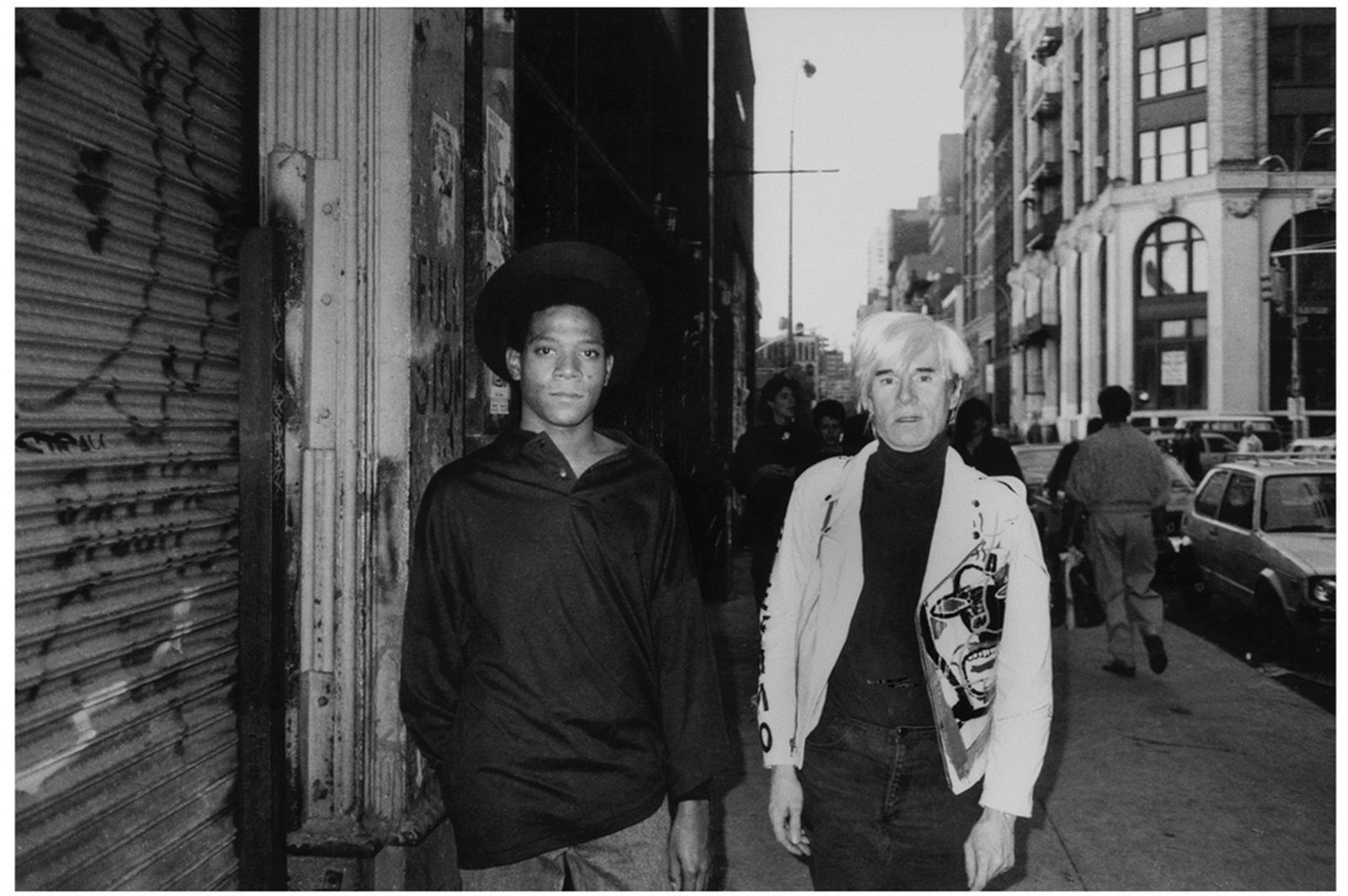 Basquiat with Warhol, Mercer St. NYC, 1985