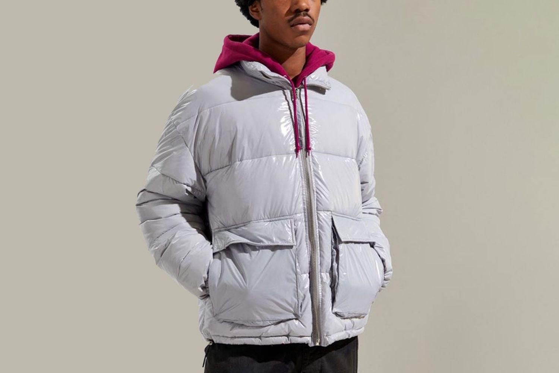 Nocturne Nylon Shiny Puffer Jacket
