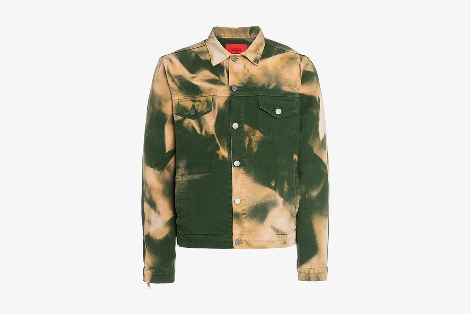 Browns Fashion 424 Fairfax X Armes Bleach Denim Jacket tie dye