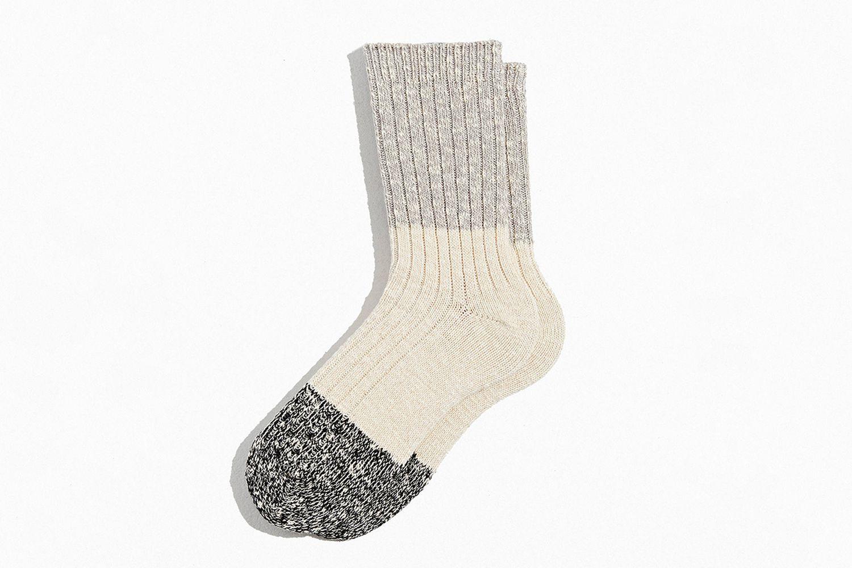 Colorblock Marl Crew Sock