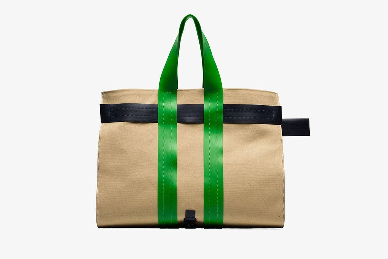 Contrasting Buckle Strap Messenger Bag