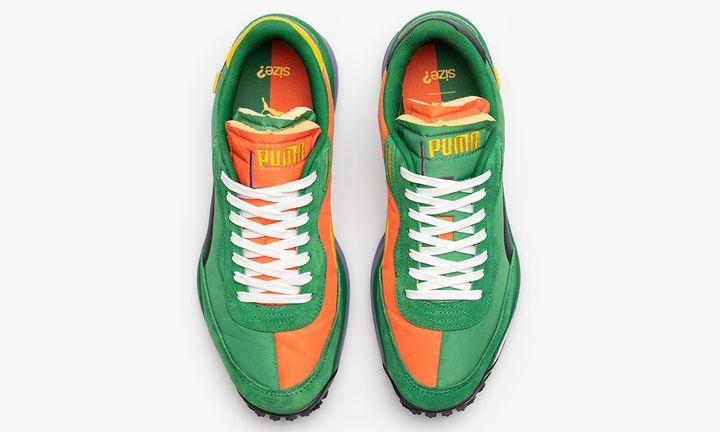 orange and green PUMA Future Rider sneaker