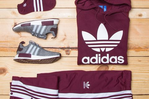 b49a1330f698b Champs Sports and adidas Originals just linked up to launch a fresh new  sportswear collection dubbed the  Maroon Pack.