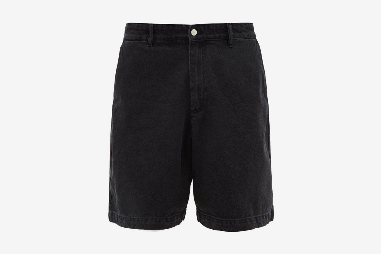 Exaggerated Wide-Leg Denim Shorts