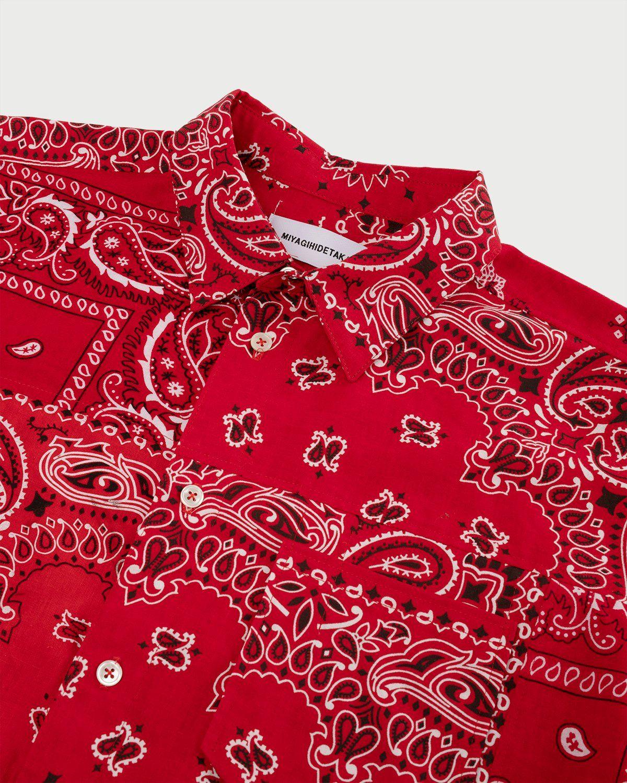 Miyagihidetaka Bandana Shirt Red  - Image 2