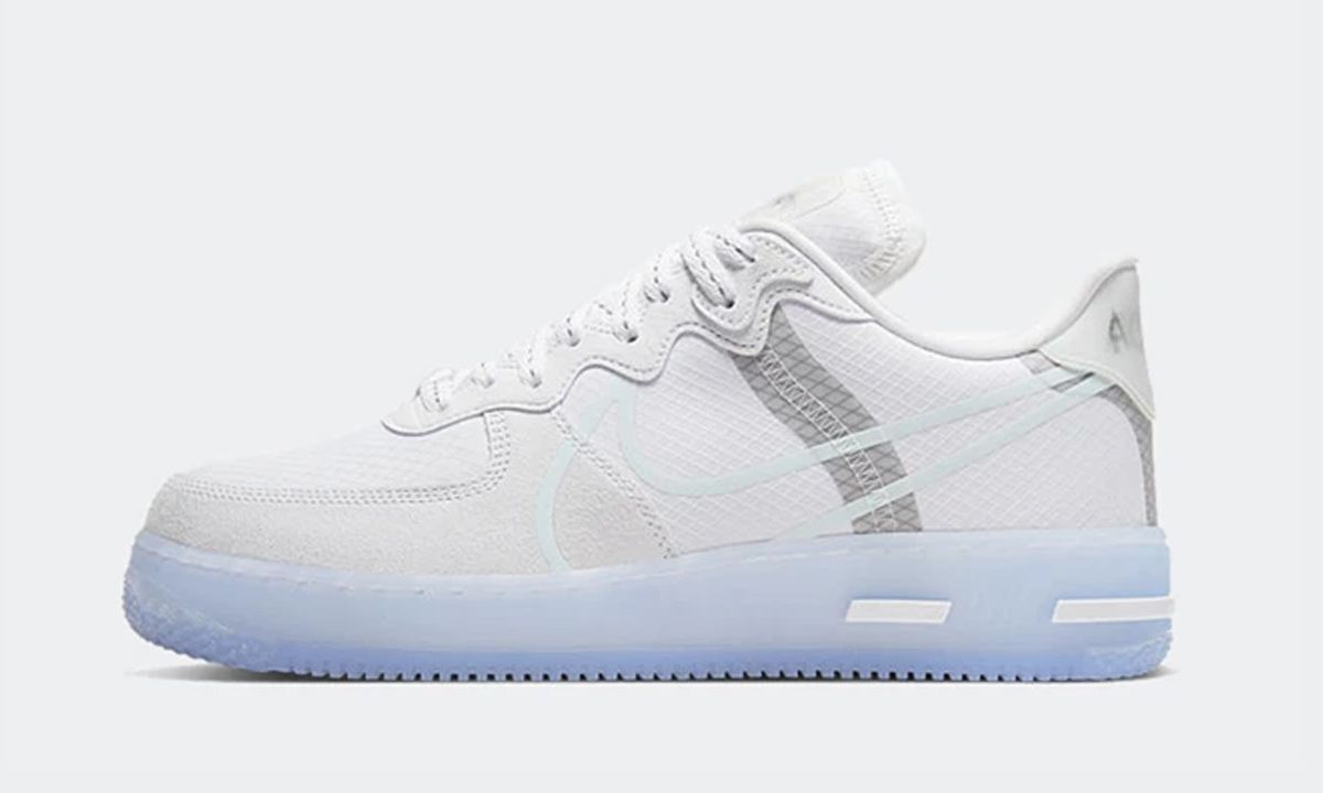 Nike Air Force 1 React White Ice Official Release Information