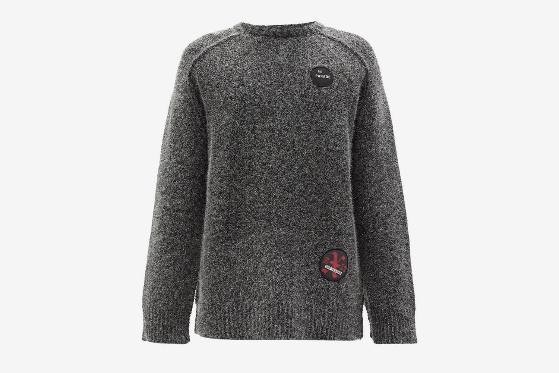 Fuzzy Lamé Sweater