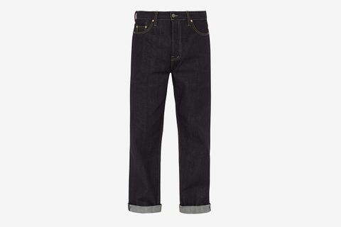 Raw Selvedge Denim Wide-Leg Jeans