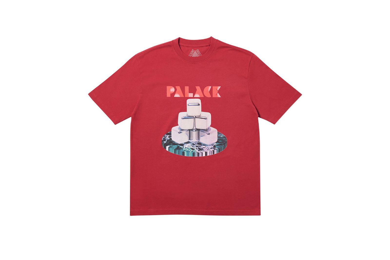 Palace 2019 Autumn T Shirt P Cubes red