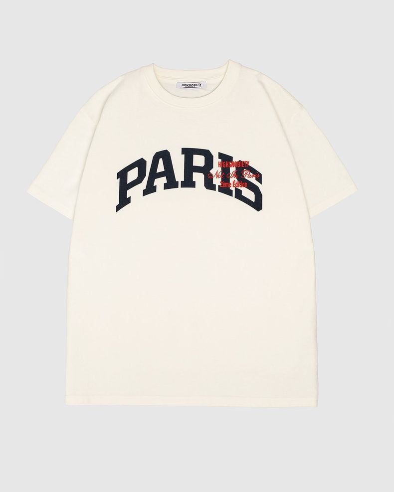 Highsnobiety — Not In Paris College Logo T-Shirt White