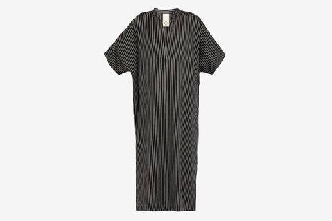 Oxford-Stripe Cotton-Blend Kaftan